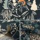 【数量5から】生地 『カワトウリカ×ムーミン 綿麻キャンバス 森のいきもの ダークネイビー G-1201-1C』 KOKKA コッカ