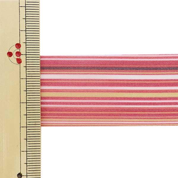 【数量5から】 リボン 『カスリオーガンジー 9727 幅約3cm 16番色』 AOYAMARIBBON 青山リボン