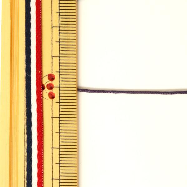 組ひも『ロマンスコード極細 0.8mm ワイン段染』メルヘンアート