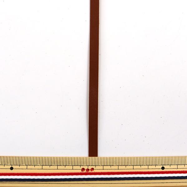 手芸レース 『牛レースうす口 6mm幅 10本入り 茶 3511-06』 LEATHER CRAFT クラフト社