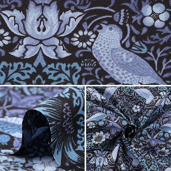 【数量5から】生地 『moda fabrics William Morris ウィリアムモリス Strawberry Thief 8176-33』
