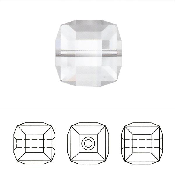 スワロフスキー 『#5601 Cube Bead クリスタル/AB 6mm 2粒』 SWAROVSKI スワロフスキー社
