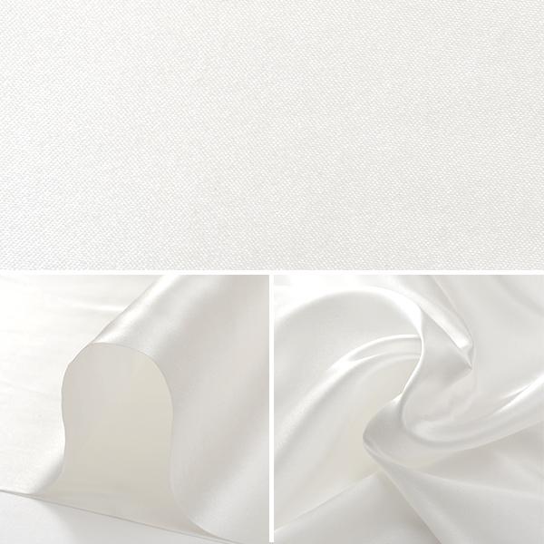 【数量5から】生地 『コスチュームサテン 02 オフホワイト (オフ白色)』【ユザワヤ限定商品】