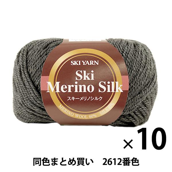 【10玉セット】秋冬毛糸 『Ski Merino Silk(スキーメリノシルク) 2612番色』 SKIYARN スキーヤーン【まとめ買い・大口】