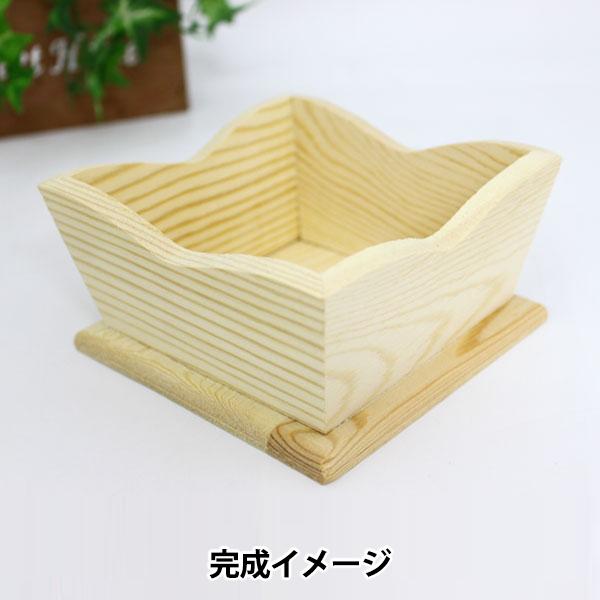 土台 『クッキートレイ バスケット ボックス トールペイント 白木 木製 ウッド W20653』