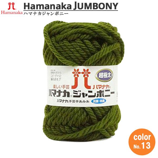 毛糸 『ハマナカ ジャンボニー 超極太 13番色』 Hamanaka ハマナカ