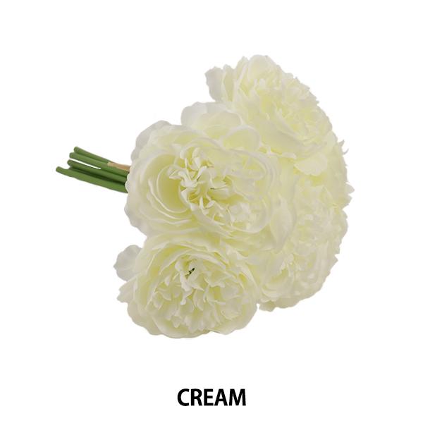 造花 シルクフラワー 『ローズの束×6 クリーム』