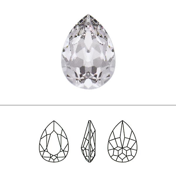 スワロフスキー 『#4320 Pear-shaped Fancy Stone クリスタルAB 14×10mm 1粒』 SWAROVSKI スワロフスキー社