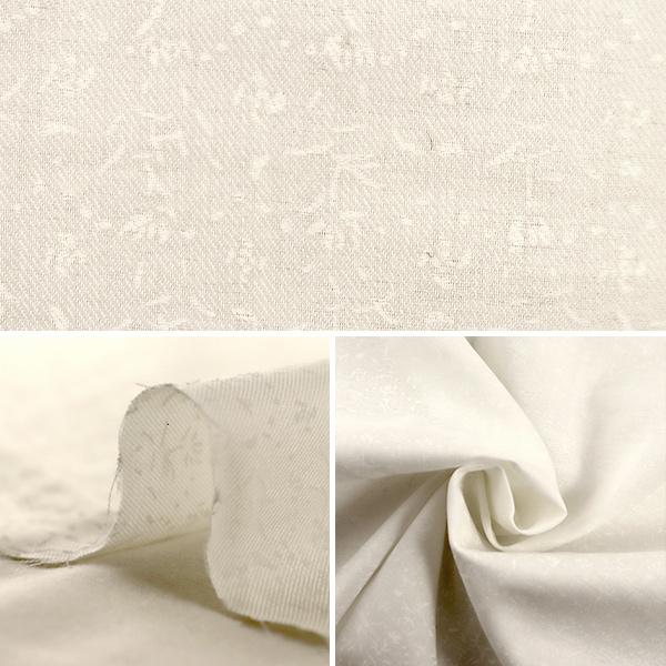 【数量5から】生地 『Hakko(ハッコウ) 綿シルク ホワイト EGX-11020-1A』 KOKKA コッカ