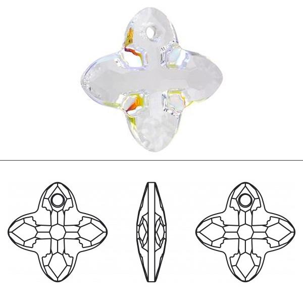 スワロフスキー 『#6868 Cross Tribe Pendant クリスタル/AB 14mm 1粒』 SWAROVSKI スワロフスキー社