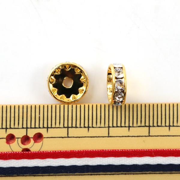 スワロフスキー 『#77510 Rondelle Spacer RONDELLE スワロフスキーロンデル平丸 ゴールド 10mm 2個』 SWAROVSKI スワロフスキー社