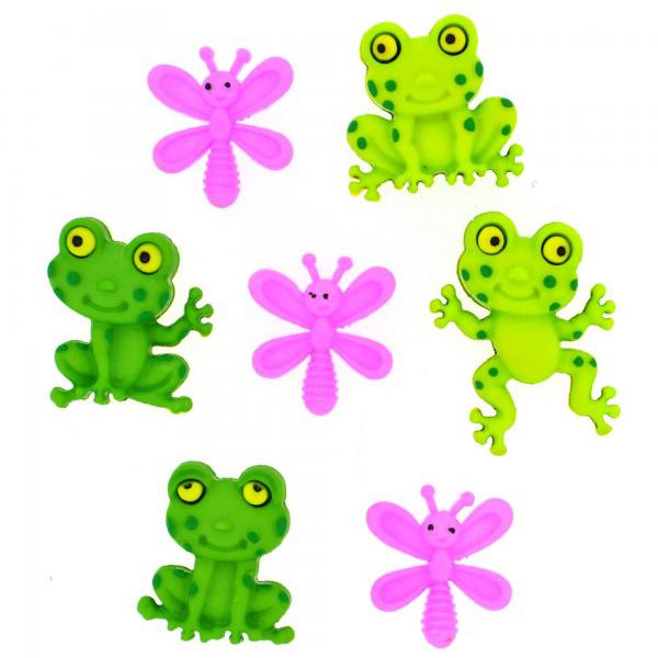 ボタン 『チルドボタン Happy Frogs』 Dress It Up