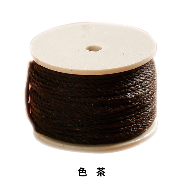 手芸糸 『手縫機用リール糸 茶』 LEATHER CRAFT クラフト社
