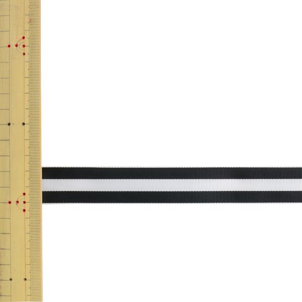 【数量5から】 リボン 『ストライプグログランリボン 幅約2.4cm 35番色 SIC-1000』
