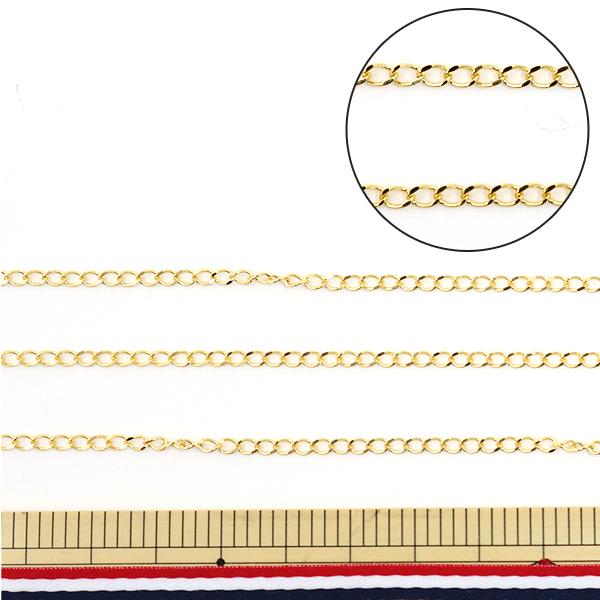 手芸金具 『OT0.5 848G パックチェーン キヘイ OT0.5 848ゴールド』