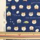 【数量5から】 生地 『Wガーゼ しば犬 ネイビー KTS6485-B』 COTTON KOBAYASHI コットンこばやし 小林繊維