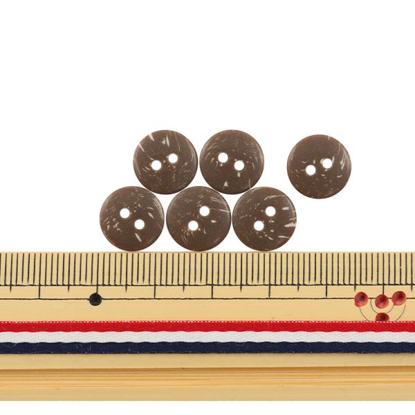ボタン 『ヤシ調シャツボタン 二つ穴 11.5mm 6個入り 48番色 PSE2668-48-11』