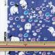 【キャラ生地P15】 【数量5から】生地 『カワトウリカ×ムーミン Wガーゼ (ダブルガーゼ) 水辺のたからもの ブルー G-1200-1A』 KOKKA コッカ