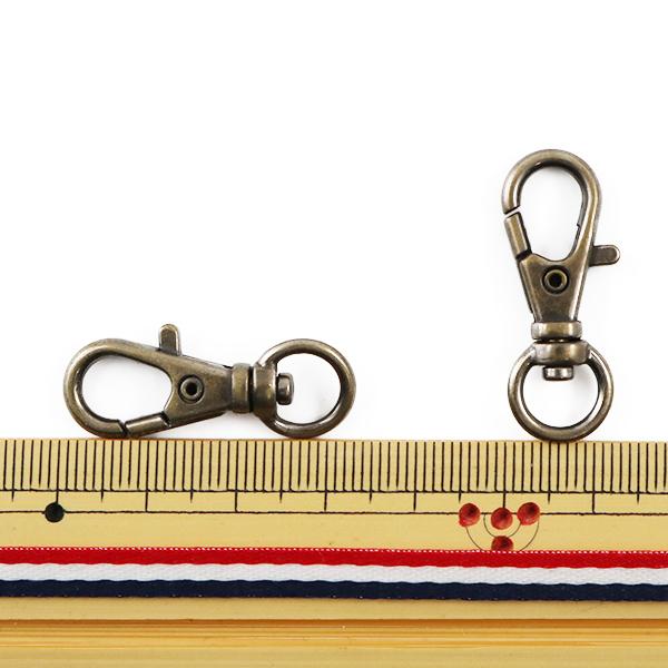 かばん材料 『ナスカン M299 アンティークゴールド 約3.3cm 2個入り』