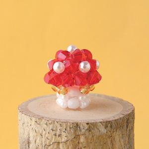 ビーズキット 『きのこのスマホピアス 赤 AKK-784』 HOBBIX 京都・西陣 ホビックス