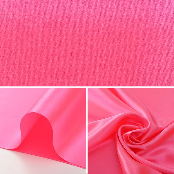 【数量5から】生地 『コスチュームサテン 23 ローズ (ピンク) 蛍光ピンク』【ユザワヤ限定商品】