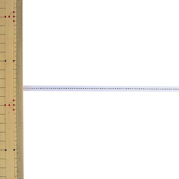 【数量5から】リボン 『グリッターWサテン 幅約6mm 1番色 ホワイト 33111』 TOKYO RIBBON 東京リボン