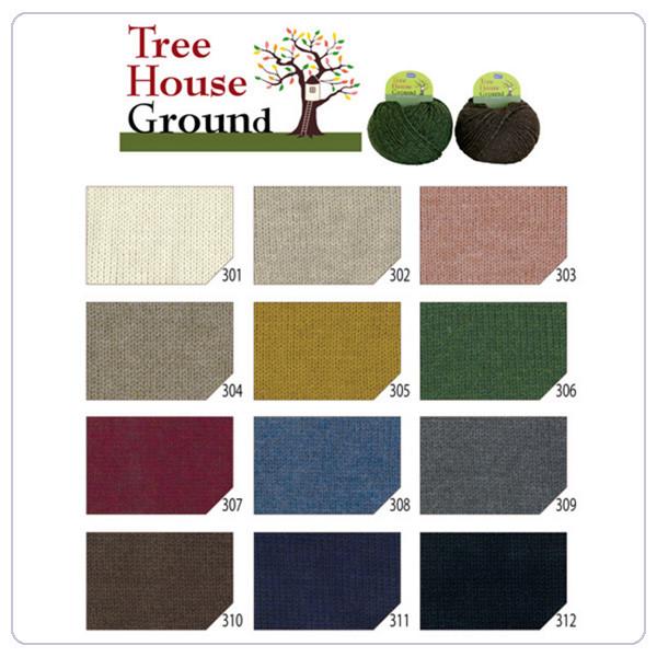 秋冬毛糸 『Tree House Ground (ツリーハウス グラウンド) 307番色』 Olympus オリムパス