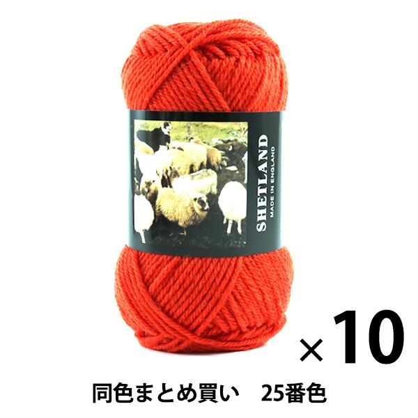 【10玉セット】秋冬毛糸 『SHETLAND(シェットランド) 25番色』 Puppy パピー【まとめ買い・大口】