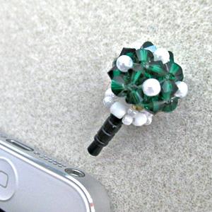 ビーズキット 『きのこのスマホピアス 緑 MKK-785』 HOBBIX 京都・西陣 ホビックス