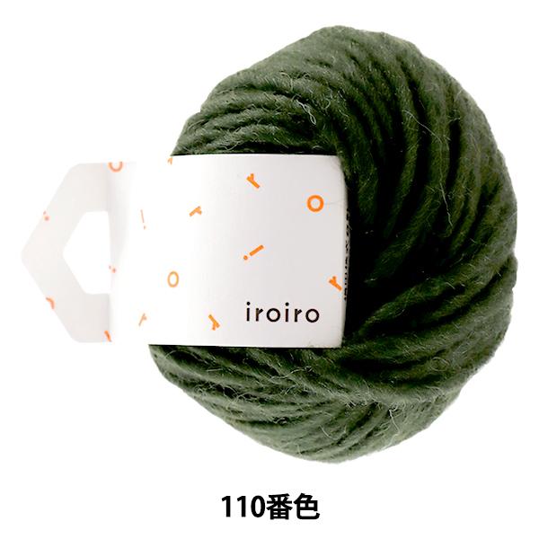 毛糸 『iroiro Roving(いろいろ ロービング) 110番色 森』 DARUMA ダルマ 横田