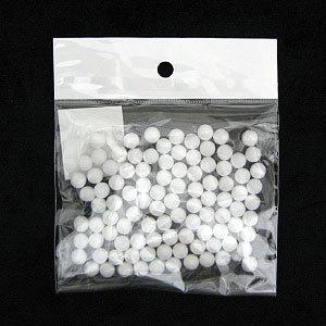 発泡スチロール 素材 『素ボール 真球型 直径8mm 100個入り』