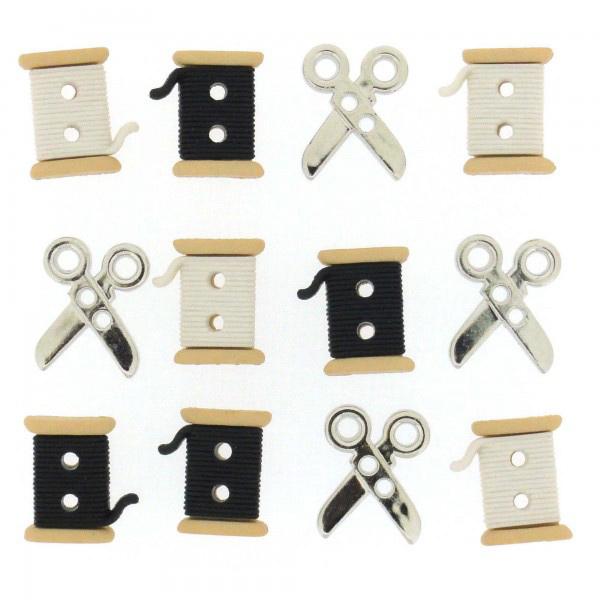 ボタン 『チルドボタン Spools Scissors』 Dress It Up
