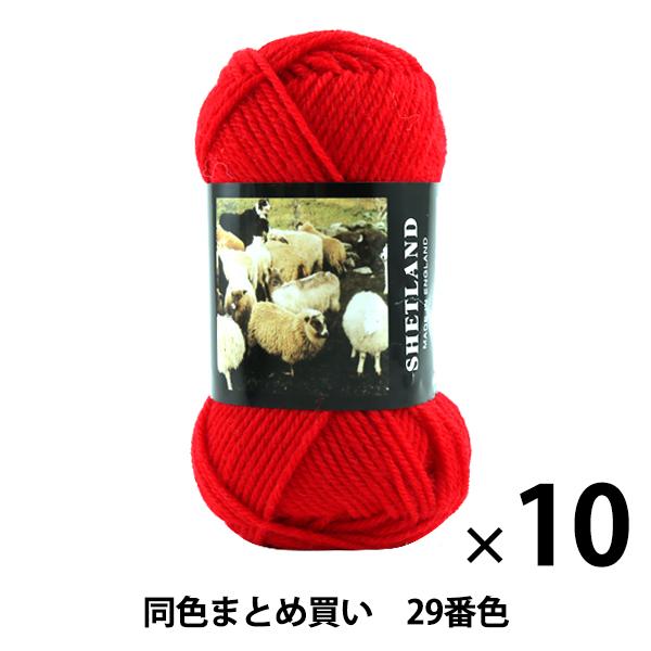 【10玉セット】秋冬毛糸 『SHETLAND(シェットランド) 29番色』 Puppy パピー【まとめ買い・大口】