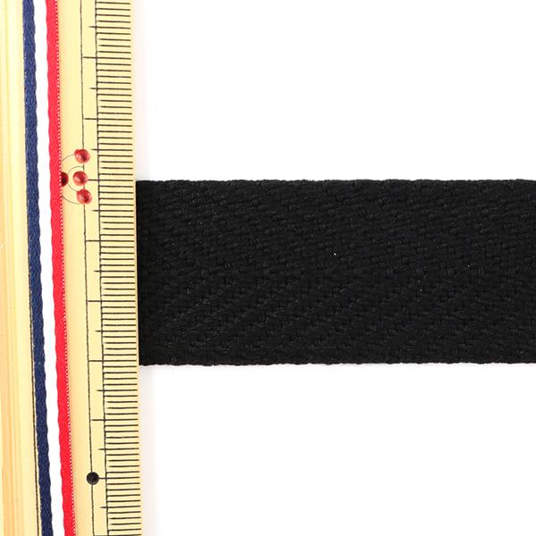 【数量5から】手芸テープ 『太綾テープ 30mm #536 黒』【ユザワヤ限定商品】