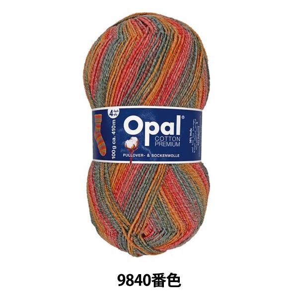 毛糸 『COTTON PREMIUM (コットンプレミアム) 9840番色』 Opal オパール