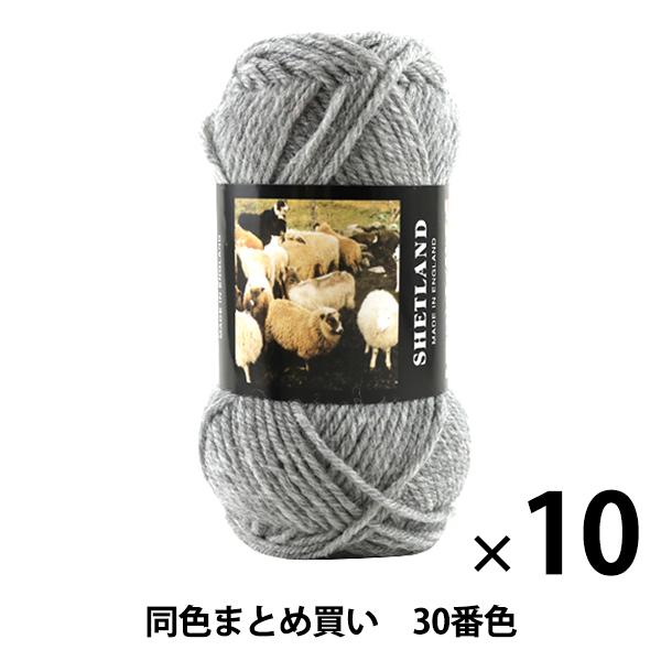 【10玉セット】秋冬毛糸 『SHETLAND(シェットランド) 30番色』 Puppy パピー【まとめ買い・大口】
