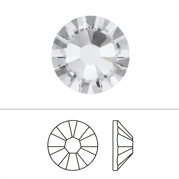 スワロフスキー 『#2058 SS9 XILION Rose Enchanced Flat Back No-Hotfix ライトトパーズ 20粒』 SWAROVSKI スワロフスキー社