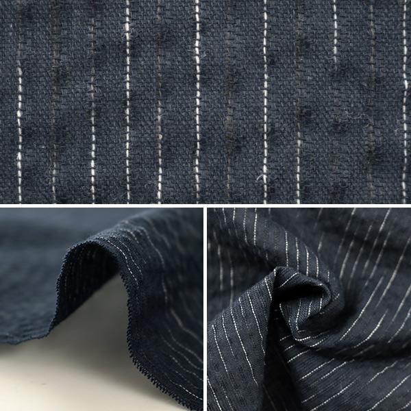 【数量5から】生地 『しじら織り 紺×白 OS-017-14』