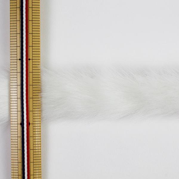 【数量5から】リボン 『フェイクファーテープ 25mm幅 6色 1:White』