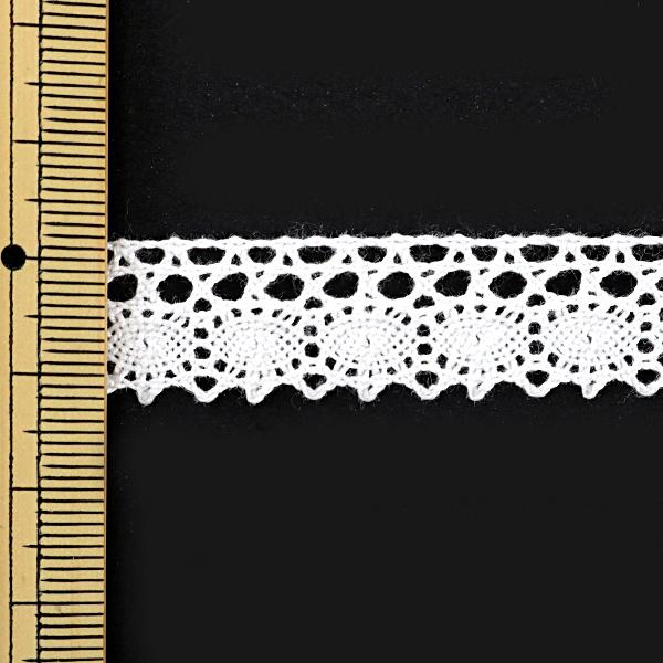 【数量5から】レースリボンテープ 『トーションレース 白 幅約14mm 3011』