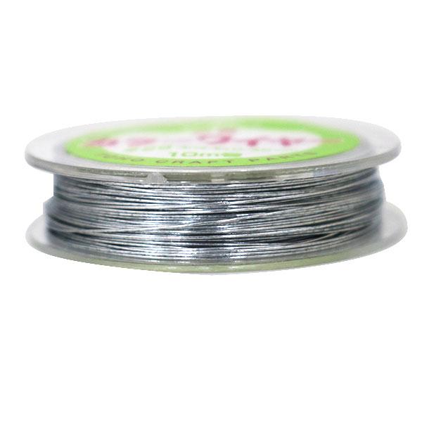 ビーズワイヤー 『鉄製 カラーワイヤー#28 (0.35mm) 10巻 シルバー』 TOHO BEADS トーホービーズ