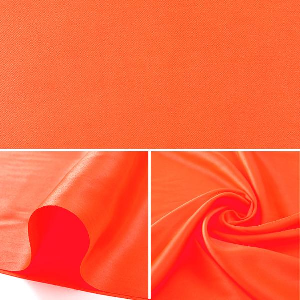 【数量5から】生地 『コスチュームサテン 38 パッションオレンジ (蛍光オレンジ)』【ユザワヤ限定商品】