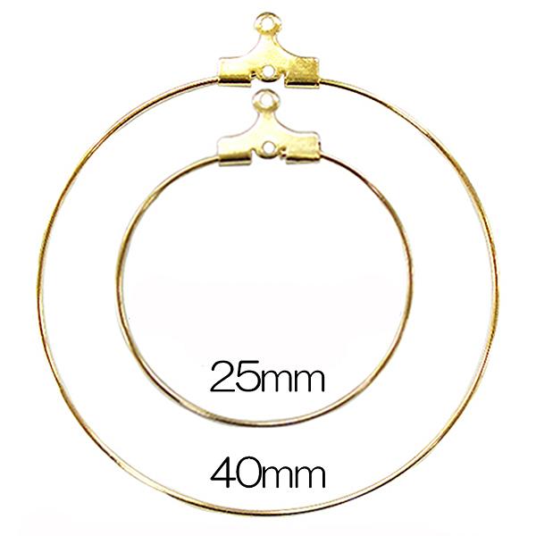 手芸金具 『ワイヤーオーナメント40mm 金色』