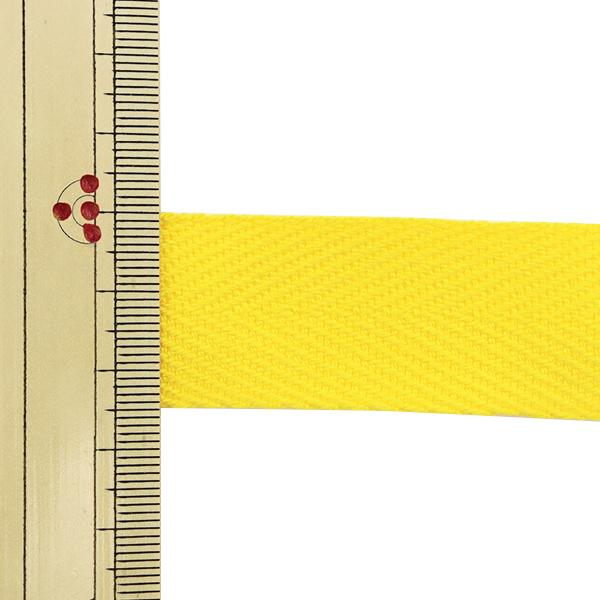 【数量5から】 手芸テープ 『杉綾テープ 幅2.5cm #529 黄』