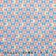 【数量5から】生地 『シーチング FANTASTIC WORLD 幾何柄 ピンク×ブルー LGA-41000-2A』 KOKKA コッカ