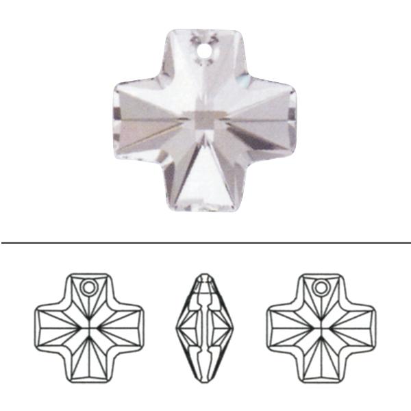 スワロフスキー 『#6866 Equal Cross Pendant クリスタル/AB 20mm 1粒』 SWAROVSKI スワロフスキー社