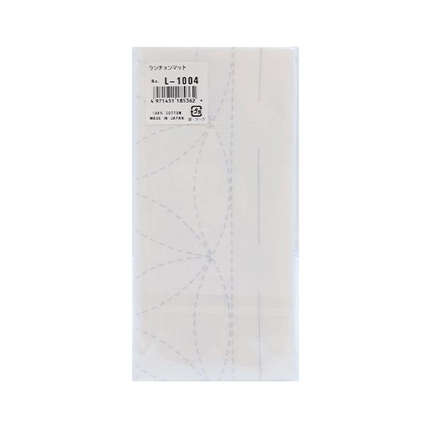 刺しゅう布 『刺し子 ランチョンマット 布パック 花車 白 L-1004』 Olympus オリムパス