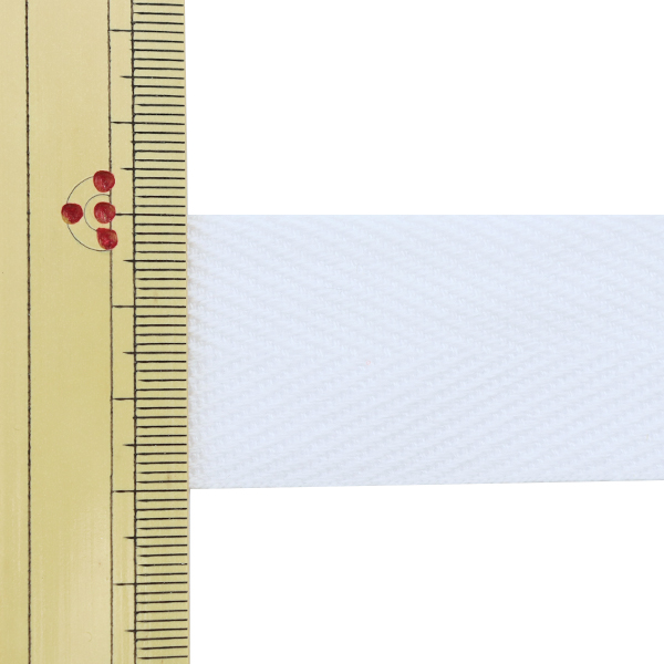 【数量5から】 手芸テープ 『杉綾テープ 幅3cm #501 晒』