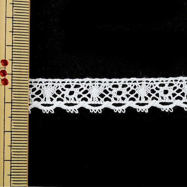 【数量5から】 『トーションレース 白 幅約12mm』 21022