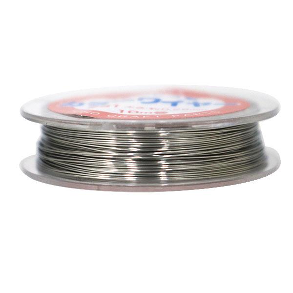 ビーズワイヤー 『ステンレス製 カラーワイヤー#31 (0.29mm) 10巻 シルバー』 TOHO BEADS トーホービーズ